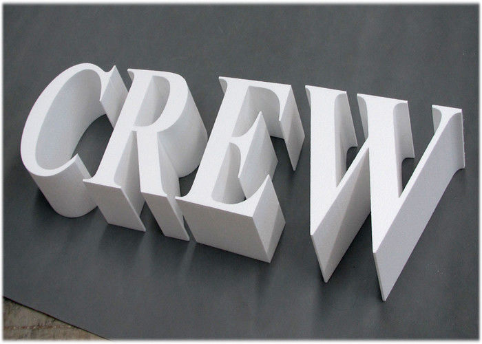 20mm Rigid PVC Sign Board UV Printing For Outdoor / Indoor 3d Sign Letter
